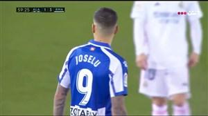 گل اول آلاوز به رئال مادرید توسط خوزلو