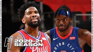 خلاصه بسکتبال دیترویت پیستونز - فیلادلفیا