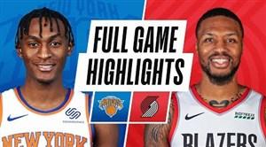 خلاصه بسکتبال پورتلند بلیزرز - نیویورک نیکس