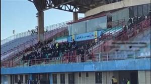حضور عجیب روی سکوها علیرغم پروتکلهای بهداشتی در استادیوم
