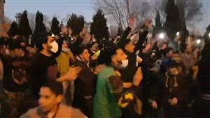 جشن و پایکوبی هواداران آلومینیوم پس از برد مقابل پرسپولیس