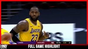 خلاصه بسکتبال کلیولند کاوالیرز - لس آنجلس لیکرز