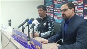 نشست خبری حسینی پیش از دیدار با استقلال