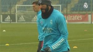 تمرینات آماده سازی رئال مادرید برای دیدار با لوانته