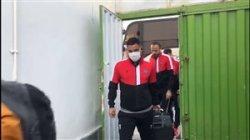 ورود اعضای تیم نساجی به ورزشگاه شهید وطنی قائمشهر