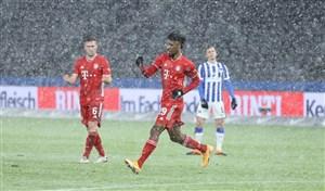 هرتا برلین 0-1 بایرن: سه امتیاز برفی