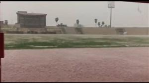 بارش شدید باران واحتمال لغو دیدار چوکا-استقلال ملاثانی