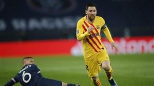 پاریس 1 - 1 بارسلونا؛ بدشانسی مانع معجزه شد