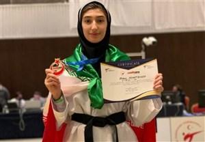 درخشش دختر تکواندوکار ایرانی در تورنمنت ترکیه