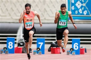 قهرمانی تفتیان در ۱۰۰ متر با رکوردشکنی