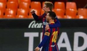 والنسیا 2-3 بارسلونا: هیجان در اوج باقی ماند