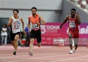 سریعترین مرد ایران در مسابقات مجارستان ششم شد