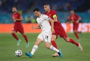 مدافع ایتالیا دیدار برابر سوئیس را از دست داد