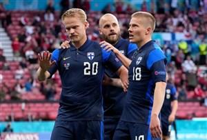 دانمارک 0 - 1 فنلاند؛ شب غیرمنتظره تکمیل شد