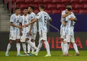 آرژانتین 1-0 اروگوئه: پیروزی با پاس گل مسی