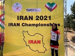 سمیه یزدانی قهرمان دوچرخه سواری ایران شد
