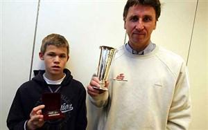 کارلسن شطرنج باز، شاگرد فوتبالیست نامدار