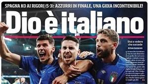 جشن بزرگ روزنامههای ایتالیا؛ خدا هم ایتالیایی است