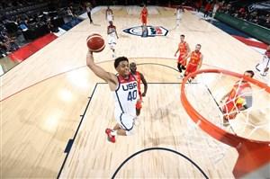 آمریکا، برنده نبرد بزرگان بسکتبال قبل از المپیک