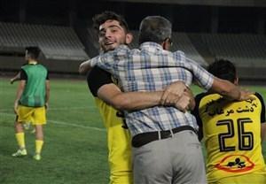 مهاجم پرسپولیس و حضور در جشن قهرمانی لیگ یک