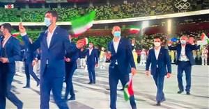 آغاز المپیک بدون تماشاگر؛ رژه ایران در توکیو،روی بخش خوبش تمرکز کنید! + فیلم