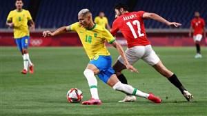 برزیل 1-0 مصر/ فوتبال المپیک؛ برزیل با شکست مصر در نیمه نهایی
