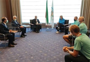 دیدار صالحی امیری با رئیس کمیته بینالمللی المپیک