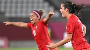 فوتبال زنان المپیک؛ شکست آمریکا از کانادا در نیمهنهایی