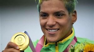 اولین طلای روز دوازدهم بر گردن شناگر برزیلی