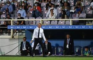 واکنش جالب مانچینی به توقف غیرمنتظره ایتالیا