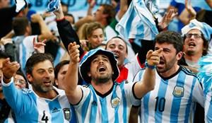 هجوم هواداران آرژانتینی برای تماشای بازی مسی