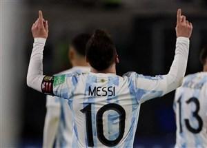 پیروزی برزیل و آرژانتین در شب درخشش مسی