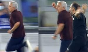 دیوانگی محض مورینیو در پایان خوش مسابقه هزار