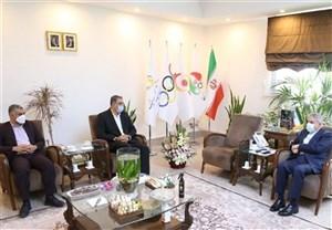 دیدار افشین ملایی با رئیس کمیته ملی المپیک
